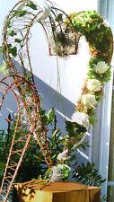 Edelrost Drahtherz auf Platte Rost Garten Herz Befüllen 70cm Metall Geschenk