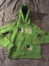 Women's Juniors Victoria's Secret PINK Hoodie Green Size M Medium Sweatshirt