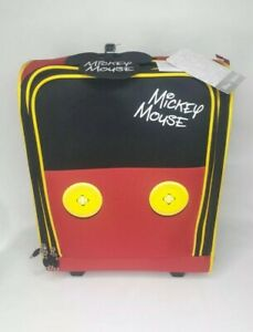 """Disney Softside Mickey Mouse Pants 16"""" 2-Wheeled Underseater Carry-On Luggage"""