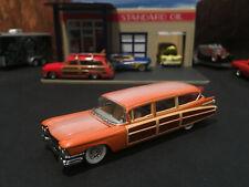 1:64 Hot Wheels LE 1959 59 Cadillac Eldorado Hearse Woodie Surf Wagon Orange