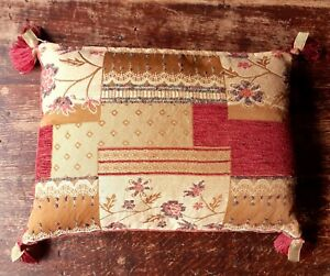 LAURA ASHLEY SMALL CUSHION WITH FEATHER PAD Tassels 24x35cms