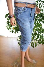 Karostar Lexxury Capri Jeans 3/4 Hose Bermuda Big 42/44 44 Stretch Neu ❤Italy S.