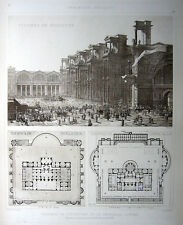 98, Rome BATHS OF DIOCLETIAN, 1905 D'Espouy Architecture Detail Design Art Print