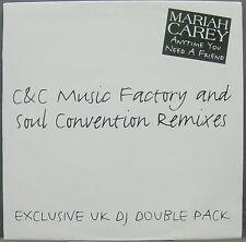 "MARIAH CAREY Anytime You Need A Friend 1994 UK Double Promo REMIXES 12"" Set MINT"