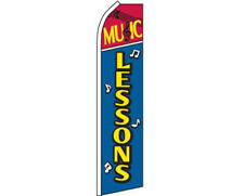 Music Lessons Red / Blue / Yellow Swooper Super Feather Advertising Flag