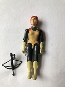 Vintage 1982 GI JOE Scarlett Straight Arm Action Figure ARAH SUPER CLEAN