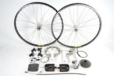 "Shimano Exage Bicycle Groupset 7 Speed Crankset Brakes Pedals Mavic 26"" Wheelset"