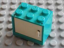 LEGO HARRY POTTER Teal Container Cupboard ref 4532 + White door 4533 / 4723 4722