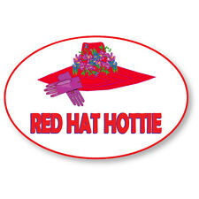 Red Hat Hottie Name Badge Halloween Costume Prop Dress Up Like A Red Hat Lady