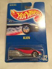 1991 Vintage Hot Wheels Blue Card Collector No #62 Alien Red/Silver w/5 Sp Varia