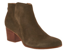 Sole Society Suede Ankle Boots with Zipper Booties River Army Women's Size 8 New