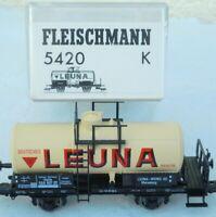 Fleischmann 5420 K Kesselwagen LEUNA der DRG Epoche 2 gebraucht, gut in OVP