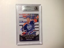 Jordan Eberle Signed 2010/11 UD Young Guns RC Card Slabbed Beckett BAS BGS a