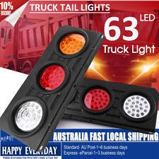 2 x 63 LED Ute Rear Trailer Tail Lights Caravan Truck Car Indicator Lamp DC 12V