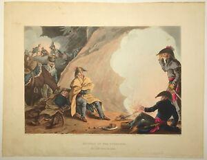 EDWARD ORME Original Color Aquatint Removed Historic Military NAPOLEONIC WARS o