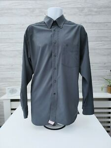 Mens Vintage 90s Christian Dior Shirt Long Sleeve Cotton Grey Size 4 / L!!!