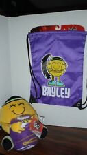 "WWE Micro Raschel Blanket WWE Bayley Emoji 50"" x 40""  I am Hugger & Clinch Sak"