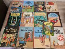 Tin Tin Hardback Books in French - L'ile Noire, Lune, Picaros, Pharon & More