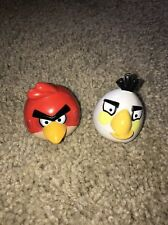 ANGRY BIRDS 2 INCH FIGURES RED BIRD WHITE BIRD LOT