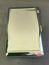 Silver Cigarette Case with Built in Lighter Metal Wallet