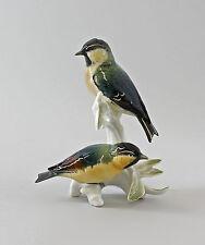 Figure en porcelaine Oiseaux Groupe Sizerin flammé Ens H17cm 9997592