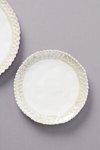 NEW Anthropologie Set of 4 Four Etana Side Plates White Irredescent RRP £40