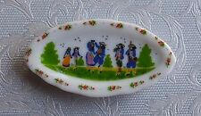 Dolls house miniatures: traditional folk scene plate from France
