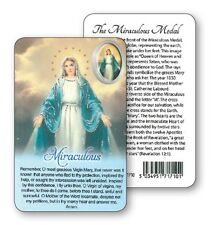 VIRGIN MARY OUR LADY PRAYER LAMINATED CARD WITH RESIN DROP PICTURE OTHERS LISTED