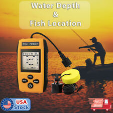 100M Portable Fish Finder Fishfinder Sonar Sensor Depth Echo Transducer Alarm
