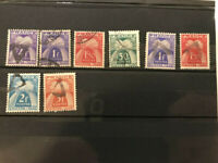 France 8 used tax stamps chiffre taxe ears of wheat very fine