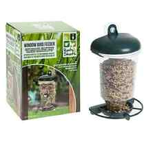 WINDOW BIRD FEEDER TABLE SEED PEANUT HANGING SUCTION PERSPEX CLEAR VIEWING