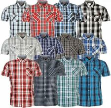 ✔ LEE COOPER Herren Hemd kurzarm Shirt kariert Short Shirt Kragen Sommer NEU