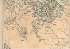 173 anni vecchia cartina Africa habesch Kordofan Darfur dschebel al komri 1844