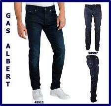 jeans da uomo gas albert slim fit blu a gamba dritta vita bassa dritti w29 31 44