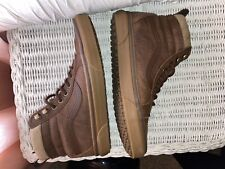 Vans All weather Mte Brown Leather/Herring Bone (Mens 8.5) (Womens Size 10)