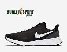 Nike Revolution 5 Nero Bianco Scarpe Shoes Uomo Running Palestra BQ3204 002