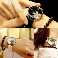 Fashion Women Ladies Wristwatch Quartz Analog Leather Bracelet Dress Dial Watch
