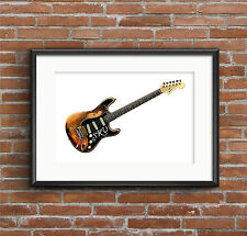 Stevie Ray Vaughan's Stratocaster Number One POSTER PRINT A1 size
