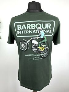 Barbour International Archive Racer Short Sleeve T Shirt Tailored Fit