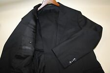GUCCI GG Lining bLACK Two Button Suit Size 40 R