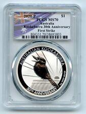 2020 P $1 Australian Silver Kookaburra 1oz PCGS MS70 First Strike