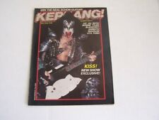 Kiss Kerrang Gene Simmons Magazine