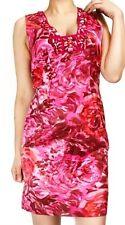 Rebecca Taylor Silk Floral Pink Dress Sheath 0 XS P