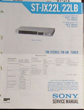 Sony ST-JX22L tuner service repair workshop manual (original copy)