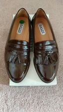 VTG Bally Mens Brown Kiltie Tassel Loafers Size 9 EEE Made in Italy NWB