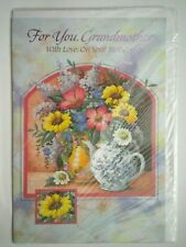 """""""FOR YOU, GRANDMOTHER WITH LOVE, ON YOUR BIRTHDAY"""" GREETING CARD + ENVELOPE"""