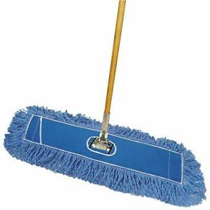"Deluxe Looped-End Dust Mop Kit 36"" Blue 1/Each"