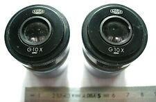 1 Pair of OLYMPUS TOKYO G10X BINOCULAIRE MICROSCOPE EYEPIECE OCULAIRE 4