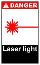 Laser Light Danger OSHA / ANSI LABEL DECAL STICKER