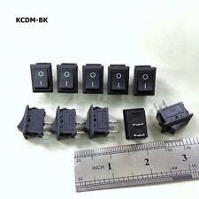 10 x 6A 250V 10A 125VAC KCDM-BK 2 Pin 14*21mm ON/OFF Rocker Switch #ecgtc